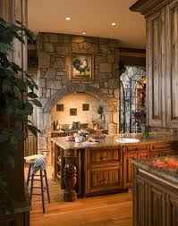100 Brick Ceiling Tuscan Kitchen With Wooden Chairs And Wonderful