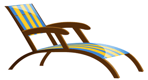 Transparent Beach Lounge Chair PNG Clipart