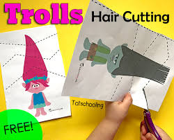 FREE Trolls Inspired Cutting Pack To Practice Scissor Skills And Fine Motor Great For