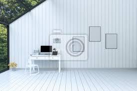fototapete 3d rendering abbildung der modernen geräumigen lounge oder wohnzimmer