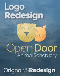 Open Door Animal Sanctuary Logo Redesign on Behance