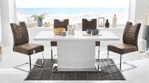 esstisch salinas tisch küchentisch weiß hochglanz mit