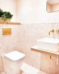 rosa badezimmer wand und bodenfliesen der terrazzo marble 5
