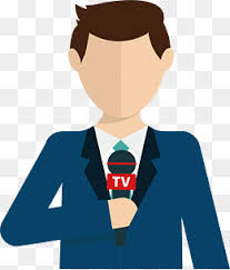 Journalists Live Coverage Reporter Journalist News Media PNG And Vector