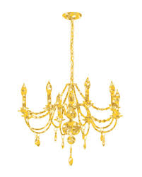 Sparkling Gold Chandelier Vector Art Illustration