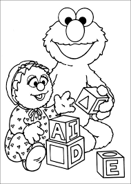 Sesame Street Characters Grover Coloring Pages