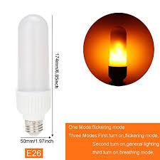 ranpo led flickering effect light bulb l e26 5w 1800k