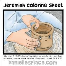 Potter And The Clay Coloring Sheet For Jeremiah Bible