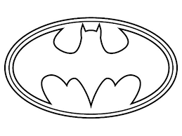 Superhero Coloring Pages Batman Logo