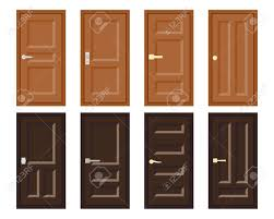 100 Design House Inside Vector Flat Design House Door Set Collection Of Various Type