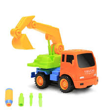 Packfun Take-A-Part Toy Vehicle Excavator Friction Powered Kit Truck ...