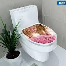 dekoration diy wc deckel sitze abdeckung wandaufkleber