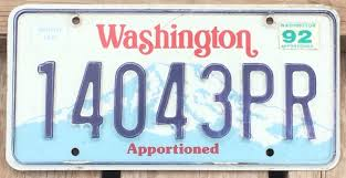 Washington 1988 - 1992 APPORTIONED TRUCK License Plate! • $6.99 ...