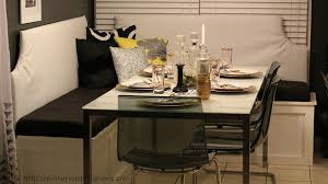 corner kitchen table with storage bench delightful simple