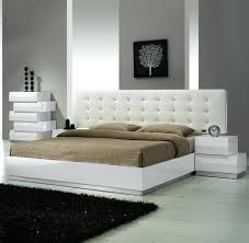 Excellent White Modern Bed Calyx White Modern Bed With Curved King