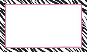 Paper Border Templates Word Designs In Zebra Borders For Microsoft
