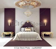 chambre royal doré royal luxe chambre à coucher intérieur