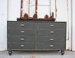 DIY Old Wood Dresser Makeover Made From Reclaimed With 8 Drawer And Painted Gray Chalk Paint Color Plus Tray Table Top Ideas