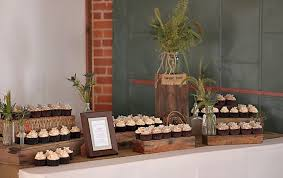The Couple Provided Wooden Boxes For Cupcakes To Be Displayed On Which Looked Amazing Table