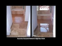 Natural Stone Floor Cleaning And Polishing By Bakers Travertine Power Clean