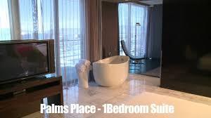 100 Palms Place Hotel And Spa At The Palms Las Vegas Bedroom Suite Studio Floor Plan Regarding