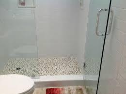sliced pebble tile shower floor flooring shower floor tile home