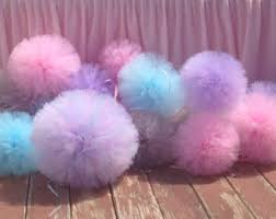 Tulle Pom Pom Decorations by Jumbo 18 Inch Tulle Pom Pom Party Decoration