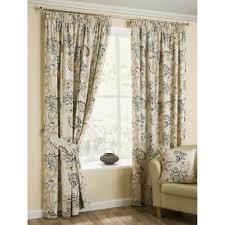 belfield furnishings jacobean azure paisley floral pencil pleat