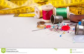 Sewing supplies stock photo Image of beige fashion