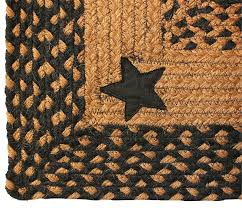 Awesome Primitive Country Star Area Rugs Barn Rug Black Intended For Ordinary