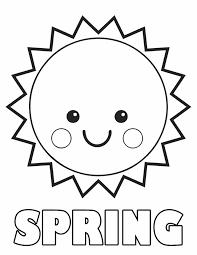 Springtime Coloring Sheets Spring Sun