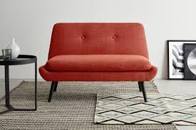 jonny 2 sitzer sofa vintage orange