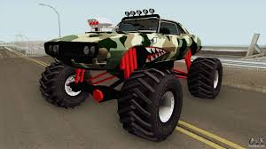 Pontiac Firebird Camo Shark Monster Truck 1968 For GTA San Andreas Gta Gaming Archive Stretch Monster Truck For San Andreas San Andreas How To Unlock The Monster Truck And Hotring Racer Hummer H1 By Gtaguy Seanorris Gta Mods Amc Javelin Amx 401 1971 Dodge Ram 2012 By Th3cz4r Youtube 5 Karin Rebel Bmw M5 E34 For Bmwcase Bmw Car And Ford E250 Pumbars Egoretz Glitches In Grand Theft Auto Wiki Fandom Neon Hot Wheels Baja Bone Shaker Pour Thrghout