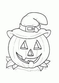 Halloween Pumpkin Coloring Page