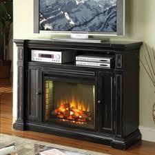 Legends Furniture 58 In W 4600 BTU Rustic Black Wood Fan Forced Electric