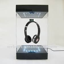 Levitating Display With LED Lights Magnetic Lighting Up Spinning