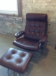 Mid Century Ekornes Brown Leather Recliner Chair - Danish Modern ... Barcalounger Phoenix Ii Recliner Chair Leather Abbyson Living Broadway Premium Topgrain Recling Ding Room Light Brown Swivel With Circle Incredible About Remodel Outdoor Comfy Regency Faux Leather Recliner Chair In Black Or Bronze Home Decor Cool Reclinable Combine Plush Armchair Eternity Ez Bedrooms Sofa Red Homelegance Mcgraw Rocker Bonded 98871 New Brown Leather Recliner Armchair Dungannon County Tyrone Amazoncom Lucas Modern Sleek Club Recliners Chairs