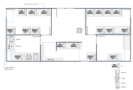 Floor Plan Template Powerpoint by Conceptdraw Samples Computer And Networks U2014 Network Layout Floor