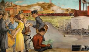 Coit Tower Murals Diego Rivera by Library Exhibit Features New Deal Era Murals Sf State News
