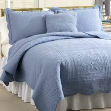Master Bedroom Linen Ideas Quilt Bedding Nice Dusty Blue