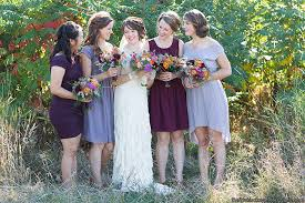Rustic Mix And Match Bridesmaid Dresses