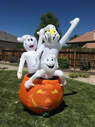 Halloween Airblown Inflatables by Image Gemmy 2002 Blow Up Airblown Inflatable Ghost Trio 3 In