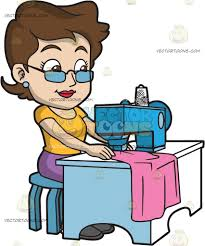 A Fashion Designer Sewing Her New Clothes