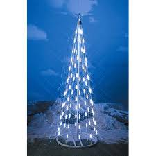 Homebrite 48 Inch White LED String Light Christmas Tree Cone 3 Feet Indoor Outdoor Decor