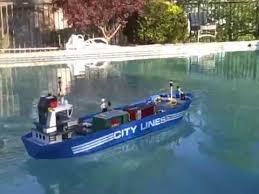 lego cargo ship on my pool youtube