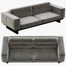 Restoration Hardware Sleeper Sofa by Restoration Hardware Durrell Leather Sofa 3d Model Max Obj Fbx Mtl