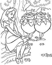 Alice In Wonderland Coloring Book Page