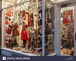 Spain Main Entrance Door And Window Display Of Osiris Quirky Fashion Accessories Shop In Glasgow