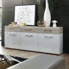 wohnzimmer sideboard tromindo in weiß hochglanz