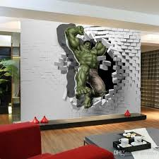 3D Avengers Photo Wallpaper Custom Hulk Unique Design Inside Wall Art Paintings For Bedroom